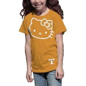 NCAA Tennessee Volunteers Hello Kitty Inverse Girls Crew Tee Shirt