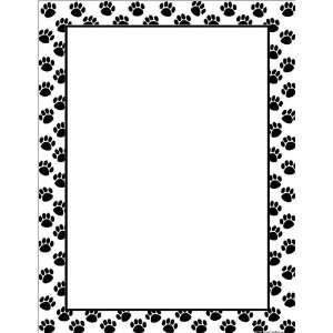 Created Resources Black Paw Prints Blank Chart (7699): Office Products