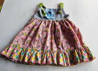 EUC Boutique etsy summer knot dress girls 2 2t