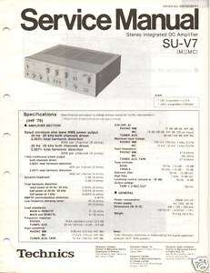 Original Technics Service Manual SU V7 Int Amp
