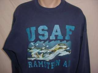 USAF Air Force Ramstein AB Air Base Germany Sweatshirt   size XL