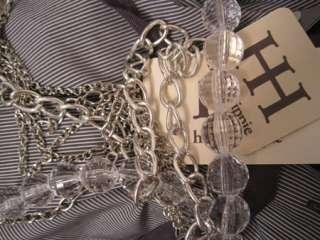 465 Haute Hippie Top Blouse Shirt Graphite M #00077L