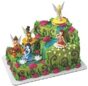 Disney Princess Birthday Cake on Disney Princess Tinkerbell Fairies Birthday Cake Topper