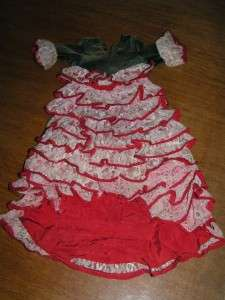 Beautiful Vintage Spanish, Flamenco Doll Dress