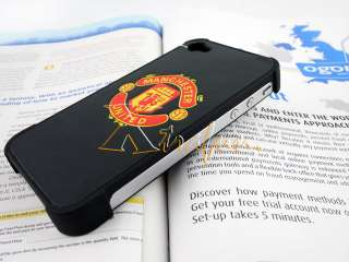 MANCHESTER UNITED FC CLUB GENUINE LEATHER CASE FOR IPHONE 4 4S 4G gift