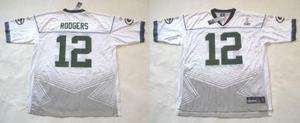 REEBOK GREEN BAY PACKERS AARON RODGERS WHITE SB 45 JERSEY size SMALL