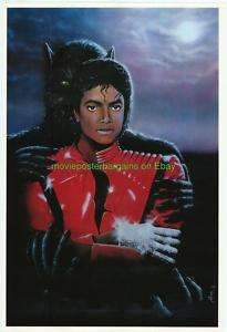 MICHAEL JACKSON THRILLER POSTER MOORE ARTWORK 1984