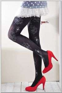New Spider Web Black Opaque Tights Pantyhose f224