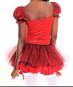 HELLO KITTY~ I AM RED BOW BURGUNDY GLITTER TULLE COSTUME DRESS