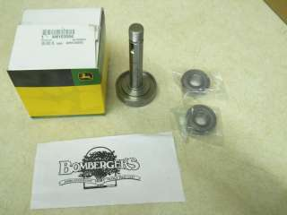 Deere Spindle shaft w bearings 108 111 130 160 165 180 AM103504 JD9296