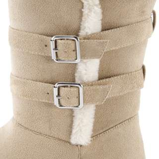 fashion trend womens ladies Plush Strapped 8 Inch Snow Boots 4 colors