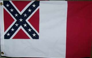 3rd NATIONAL CONFEDERATE FLAG   HEAVY COTTON SEWN 2 X 3