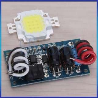 10W White High Power LED Lamp Light +DC12V 14V Driver 6500K 850 LM