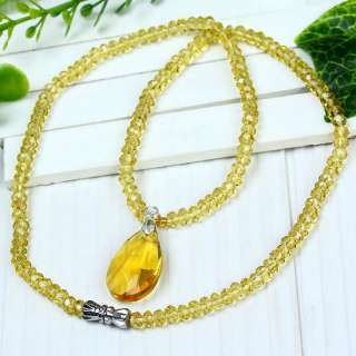Crystal Glass Necklace Pendant Beads *SIX COLOR CHOICE*