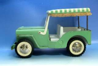 Vintage Tonka~ OUTDOOR LIVING JEEP SURREY Green #2140 and PINK #350