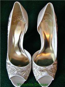 New MONSOON Ivory Satin LUCINDER Bridal Wedding Shoes
