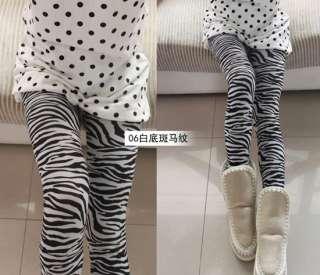 Fashion Black And White Stripe Tights Pants Pantyhose