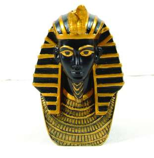 EGYPTIAN KING TUT BUST STATUE. ANCIENT EGYPT.DETAILED
