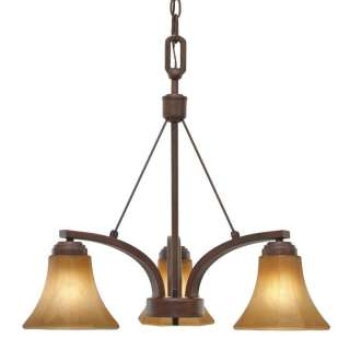 Fixture, Rubbed Bronze, Chiseled Antique Glass 844375004429