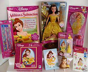 Disney Princess BELLE Doll Puzzle Gift Set TOY Lot #1