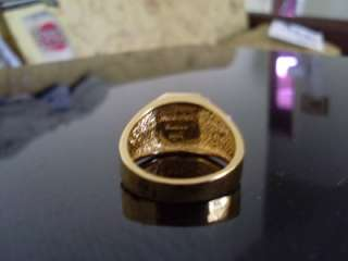 Autographed SUPERMAN GOLD BELT BUCKLE RING in GIFT BOX
