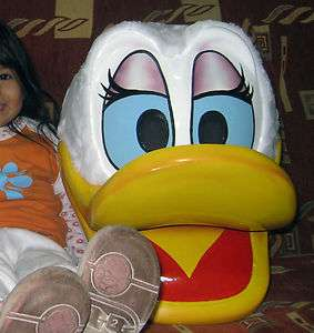Daisy Duck Fiberglass Mascot Head / Adult Costume
