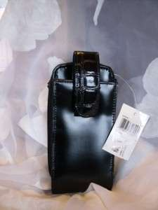 NWT Charter Club Black Patent Look Cell Phone & Wallet Case