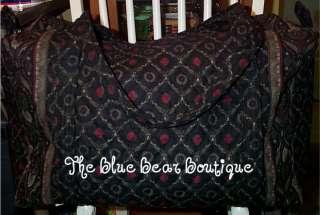Vera Bradley Large Duffel Bag in the Retired Rare  Laurel  Pattern