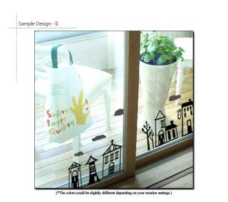 Lovely Houses   Wall & Window Decor Sticker Vinyl Decal