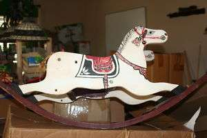 ANTIQUE Hand Painted Wooden ROCKING HORSE for CHILD