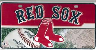 New MLB Boston Red Sox Logo Metal Car Tag License Plate