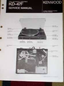 Kenwood Service/Repair Manual~KD 47F Turntable