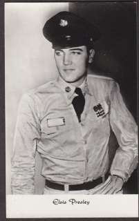 X0020 RP Vintage Movie Star postcard, Elvis Presley in Uniform,