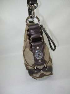 348 NWT COACH Signature Khaki Mahogany CARLY Leather HOBO BAG PURSE