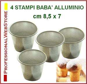 STAMPI BABA 4 PZ. STAMPO A CILINDRO CM 8 DOLCI SOUFFLE