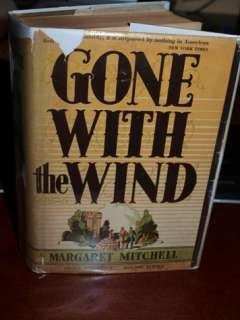 1936 Edition GONE WI E WIND Margaret Mitchell w/ DJ |