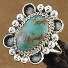 Native American Turquoise Sterling Silver Ring L.Dawes
