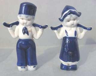 Vintage Made in Japan DUTCH Boy Girl Delft Bue White Porcelain