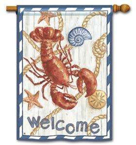 New Decorative Lobster Summer Garden Flag Large