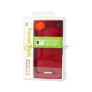 New Red External Battery Charger Power Pack Case Cover 1600mAh for