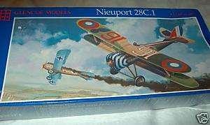 48 scale Glencoe Models NIEUPORT 28C.1, kit # 05114, Made in USA