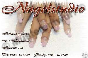 250 Visitenkarten Nagelstudio Fingernagelstudio Nails