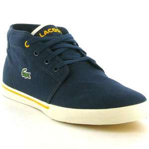 Genuine Ampthill Spm Mens Canvas Shoes Navy Yellow Sizes UK 7   11