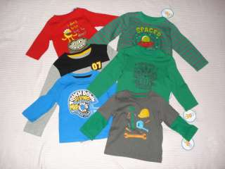 Boys Long Sleeve T Shirts 6 24 Months 2T 4T 5T NWT