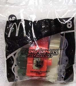 2002 Mcdonalds Transformers Armada Demolishor Toy # 8 Sealed