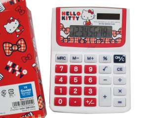 Calcolatore Brand New Sanrio HELLO KITTY SOLAR CALCULATOR (red)