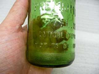 Rolling Rock collectable Green glass beer bottle made by ANCHOR
