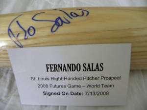 FERNANDO SALAS Tristar Autographed FUTURES bat