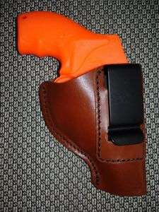 IN PANTS IWB LEATHER HOLSTER REVOLVER RUGER LCR 38