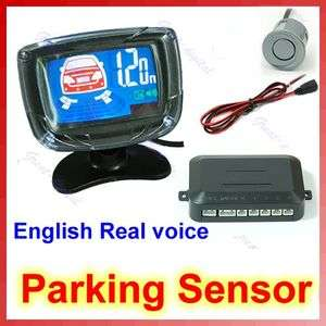 LCD Car Reverse Backup Radar 4 Parking Sensors System G